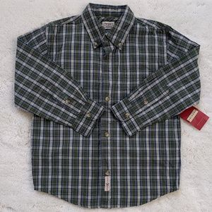 Arizona Jean company boys plaid long sleeve shirts